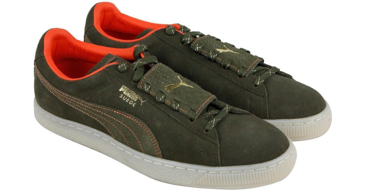 14aecc044143 Lyst - PUMA Epic Remix Stch Olive Night Scarlet Ibis Lace Up Sneakers in  Green for Men