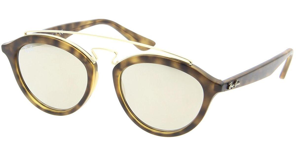 870b963432 Lyst - Ray-Ban Ray Ban Rb4257 60925a 50mm Gatsby Ii Tortoise Gold Mirror  Sunglasses