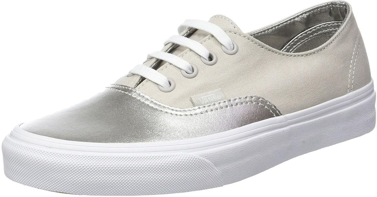 Lyst - Vans Unisex Authentic Decon Metallic Canvas Skate Shoes--5.5- 4 in  Metallic for Men 0344c445c