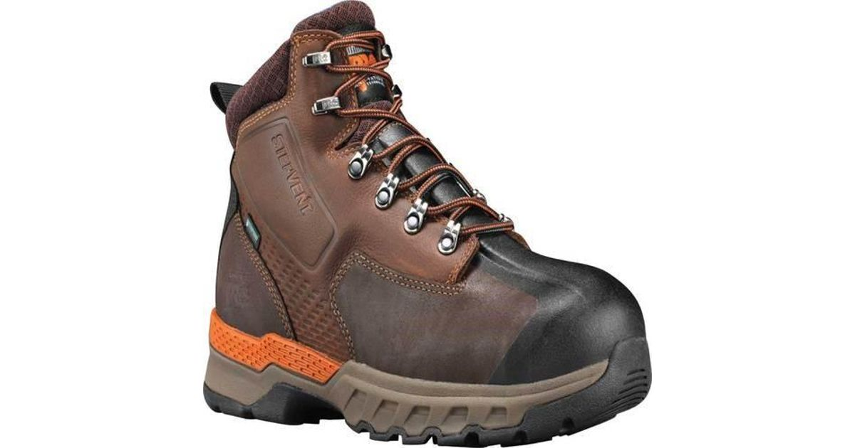 680a7dd4ca1 Timberland - Brown Pro 6' Downdraft Alloy Safety Toe Waterproof Boot for  Men - Lyst