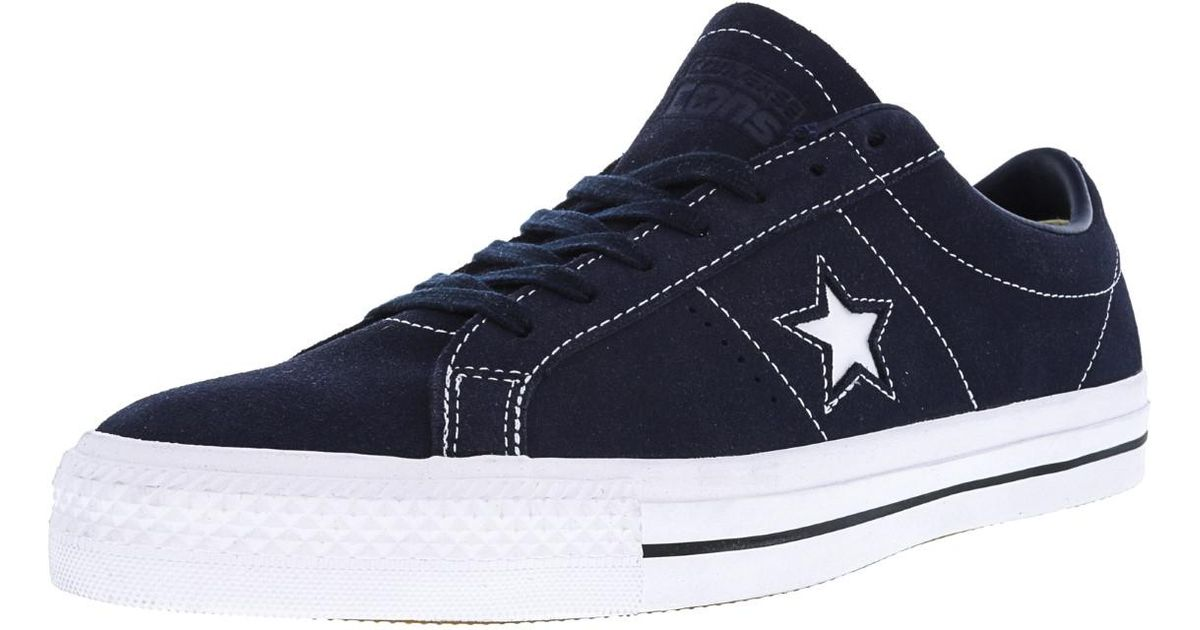 ad30a8083237 Lyst - Converse Unisex One Star Pro Ox Obsidian obsidian white Skate Shoe 8  Us   10 Us in Blue for Men