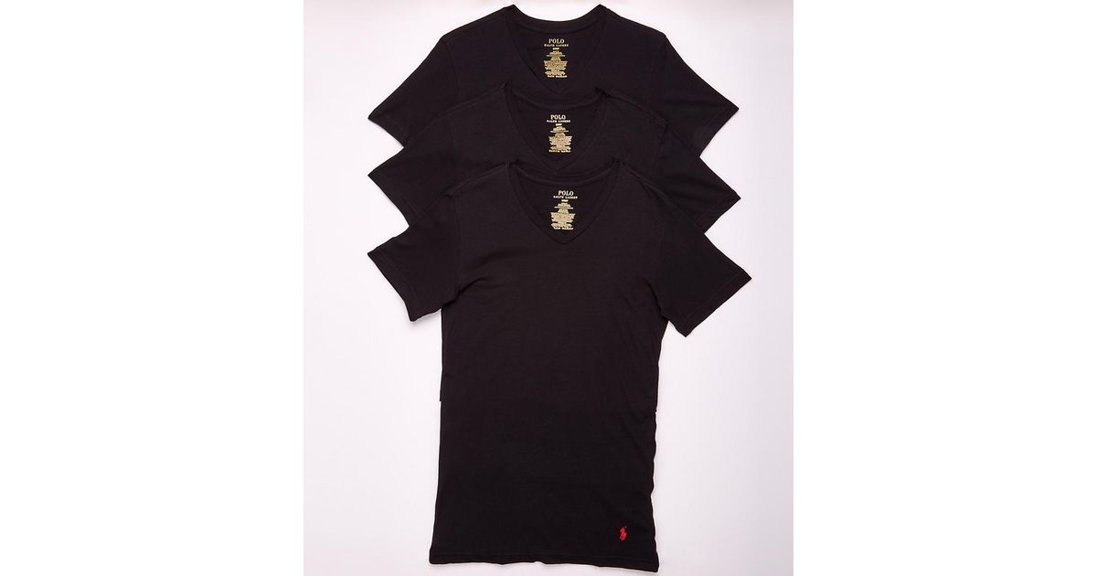 43ea0dfa45f26f Lyst - Polo Ralph Lauren Classic Fit Cotton T-shirts 3-pack in Black for Men
