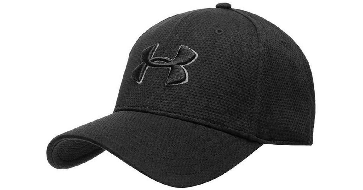 timeless design c7cac 9f12f Lyst - Under Armour Ua Printed Blitzing Stretch Fit Cap 1273197 in Black  for Men