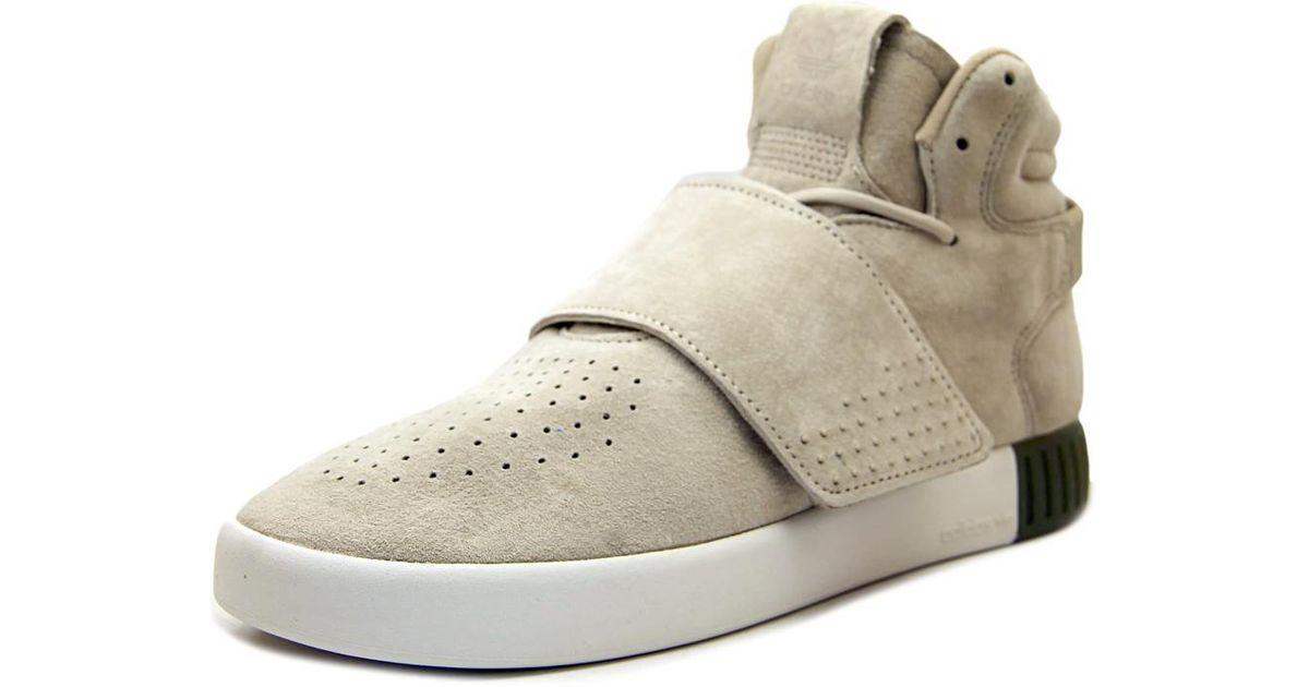 brand new 37ddd 488bb ... where to buy lyst adidas tubular invader strap women us 9 tan sneakers  51de6 2b265