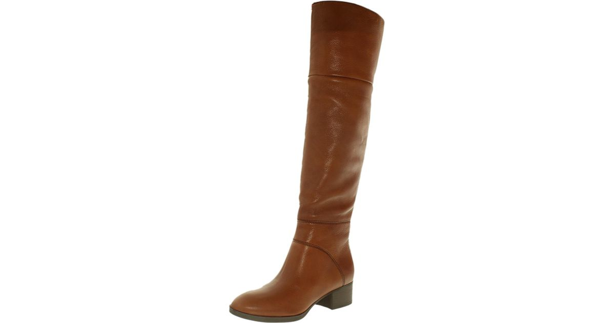 6dfd80d0c4d42f Tommy Hilfiger - Brown Gianna Women Us 8 Tan Over The Knee Boot - Lyst
