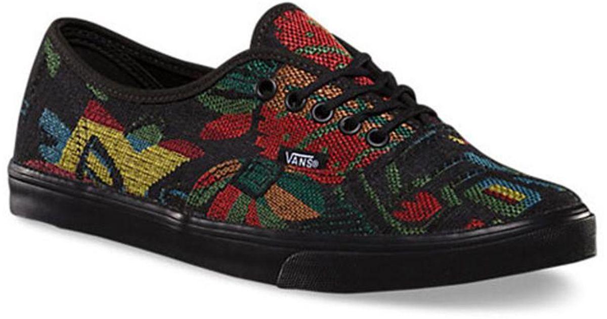 0c16ce7c03 Lyst - Vans Unisex Authentic Lo Pro Tapestry Floral Sneakers Blackblack M4  W5.5 in Black