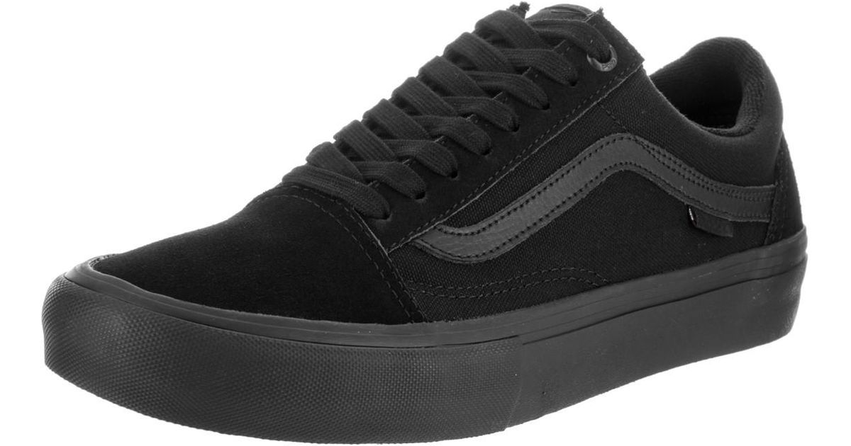 b38647896943 Lyst - Vans Old Skool Pro Bla Blackout Skate Shoe 11 Men Us in Black for Men