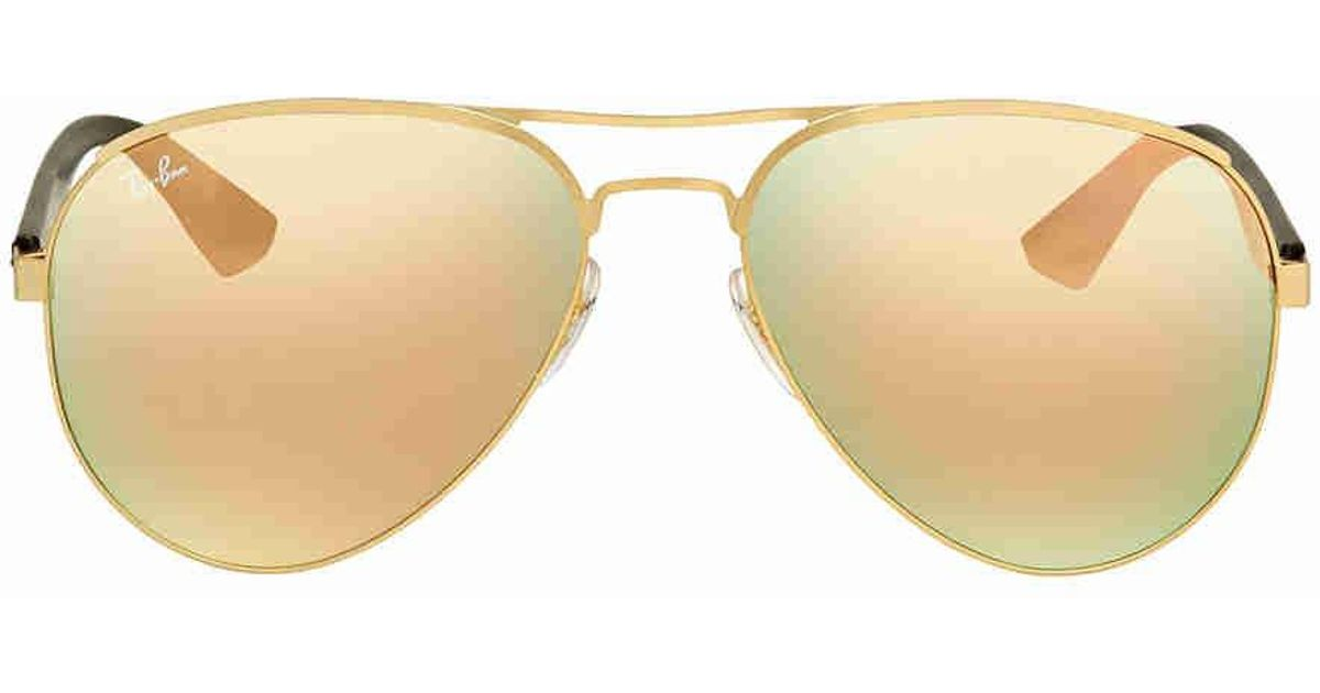 dade0f76a0 Lyst - Ray-Ban Ray Ban Copper Mirror Sunglasses Rb3523 112 2y 59 in Metallic