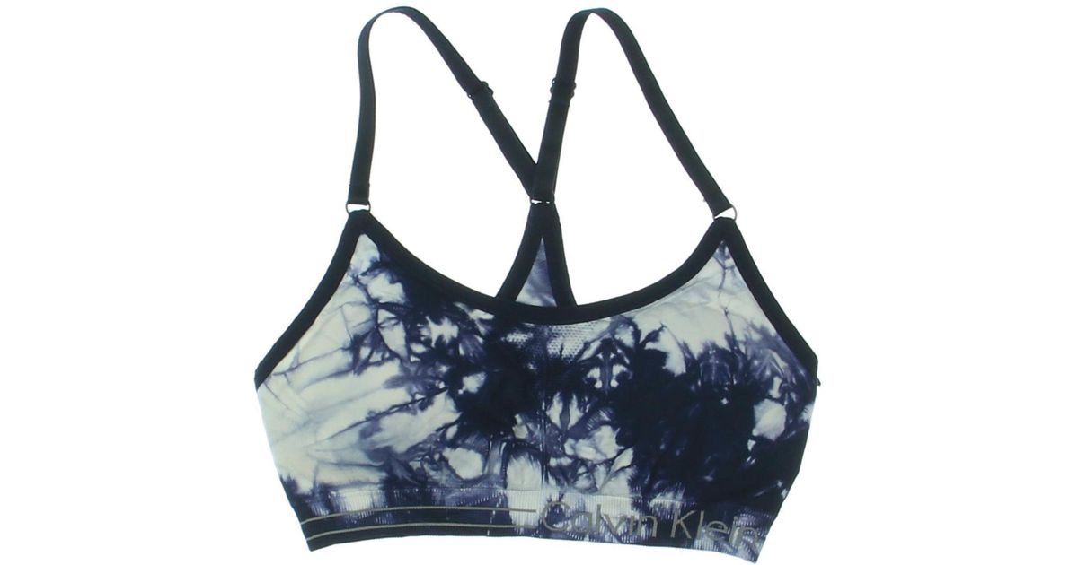 60b8078d2d Lyst - Calvin Klein 205W39Nyc Tie-dye Low-impact Sports Bra in Blue