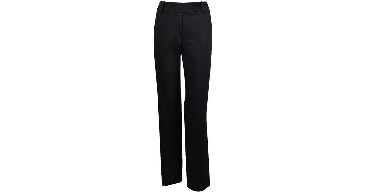 9b0a3882be187 Lyst - Calvin Klein Curvy Fit Dress Pants (black in Black