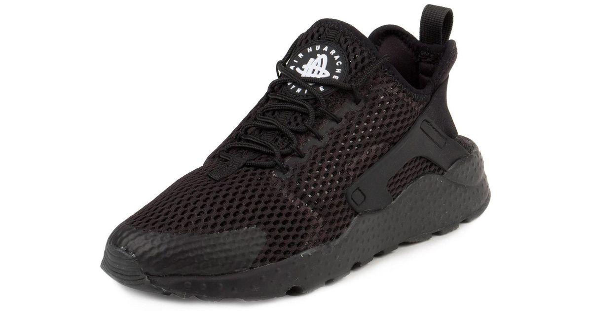 b097130c22064 Lyst - Nike Womens Air Huarache Run Ultra Breathe Black Mesh ... nike  huarache
