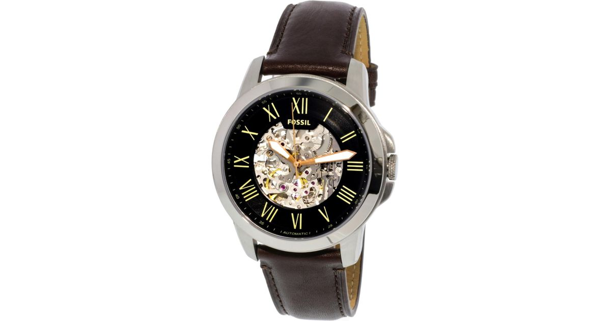aff444cd480 Lyst - Fossil Grant Watch Me3100 in Metallic for Men