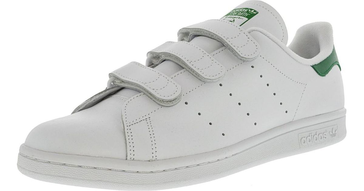 Lyst - Adidas Stan Smith Footwear White   Green Ankle-high Leather Fashion  Sneaker - 11m in White for Men 2feb50eb1