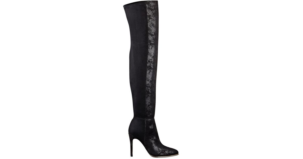 a3ba1813bd8 Lyst - Guess Zonian Faux-suede Over-the-knee Boots in Black