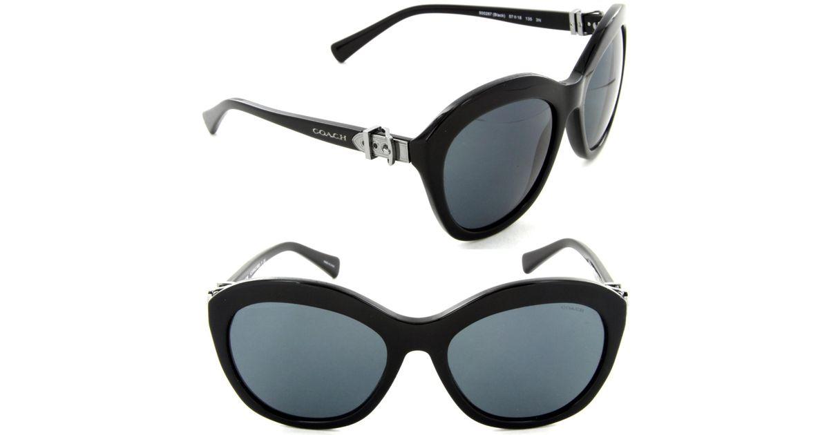 8b51c6ff8bab ... hot australia lyst coach hc 8184 5002 87 cat eye sunglasses black grey  gradient peach lens