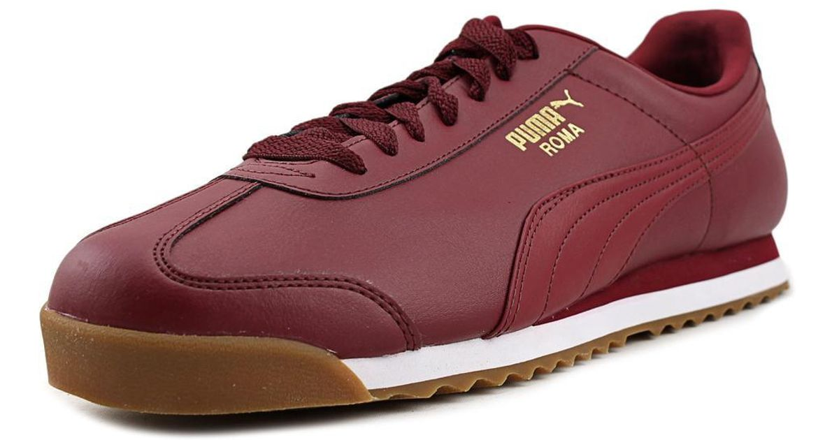 84fafe17f00 ... Lyst - Puma Roma Basic Gold Men Us 11 Burgundy Sneakers in Red for Men  ...