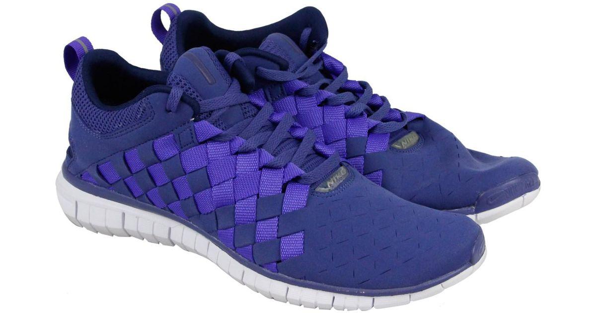 buy popular 30d4e dee47 Lyst - Nike Free Og 14 Woven Blue Legend   Persian Violet-midnight Navy  Ankle-high Running Shoe in Blue for Men