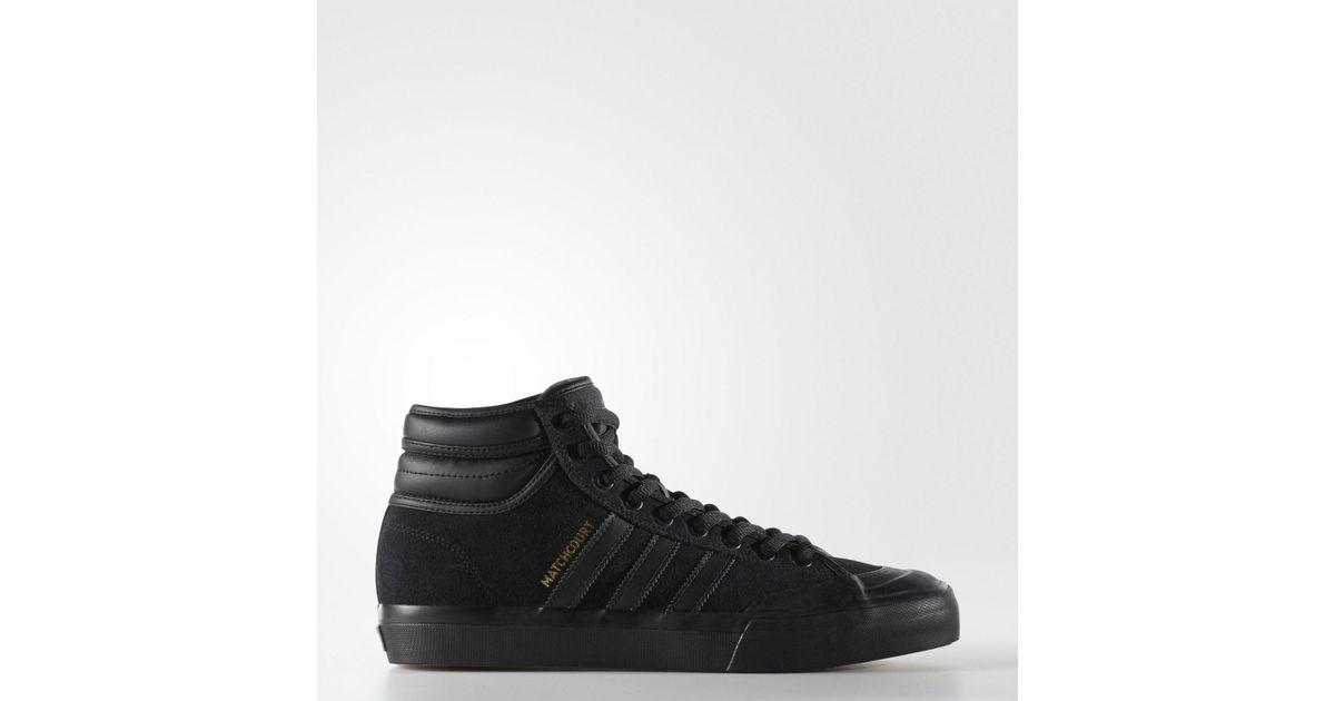 newest ae311 bf789 Lyst - Adidas Originals Matchcourt High Rx2 Cblackcblackgoldmt Skate Shoe 8  Men Us in Black for Men