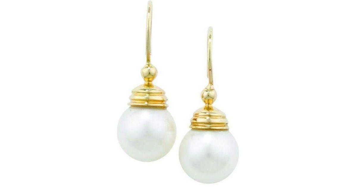 London Road Jewellery Burlington Yellow Gold Pearl Stud Earrings 9CUKDj3
