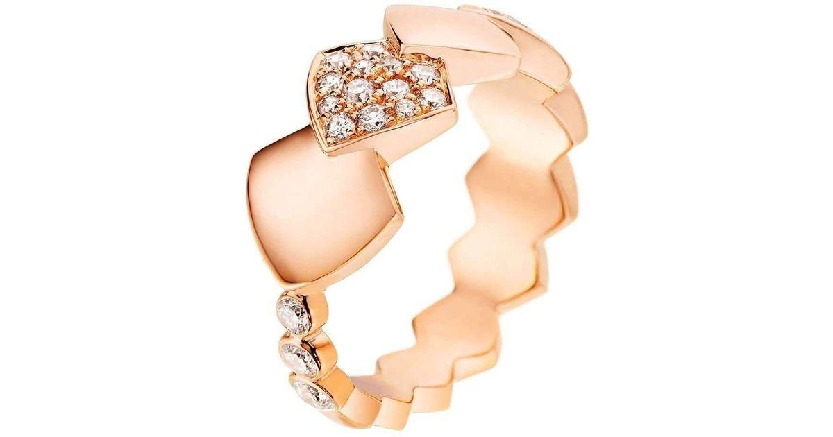 Akillis Python Rose Gold Ring - UK L 1/4 - US 5 3/4 - EU 52 MB27kyI