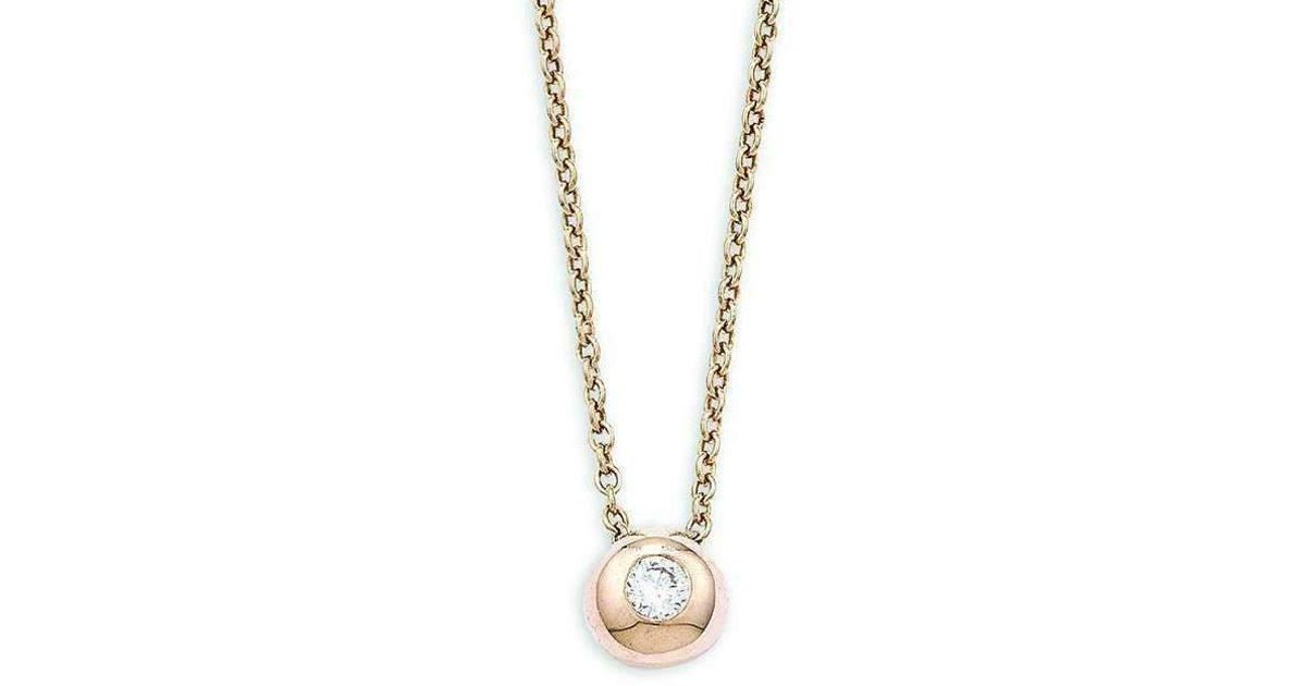 London Road Jewellery Pimlico Doughnut Rose Gold Diamond Slide Pendant sTzjvUt