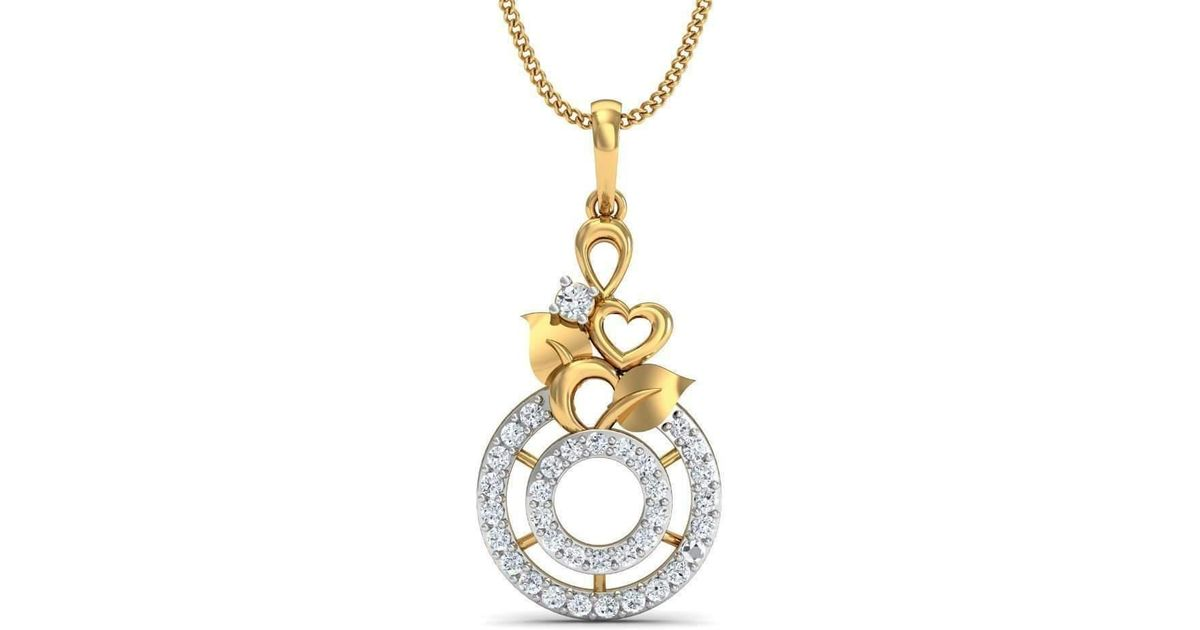 Diamoire Jewels Emerald Cut Blue Sapphire Ribbon 18kt Yellow Gold Pendant AJEMZRj