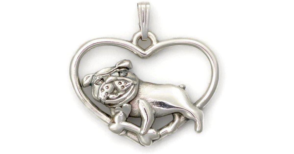 Donna Pizarro Designs Sterling Silver Whimsical English Bulldog Pendant 43zSWDHQs