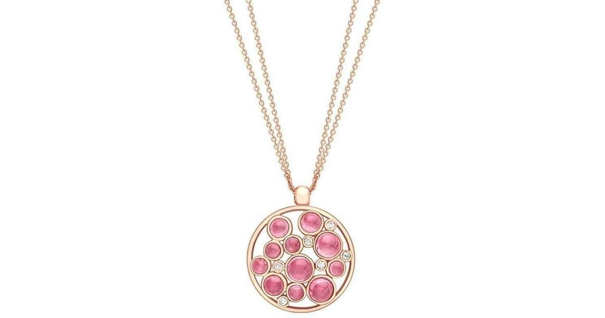 London Road Jewellery Pimlico Rose Gold Diamond and Pink Tourmaline Bubble Pendant OkKoOL1