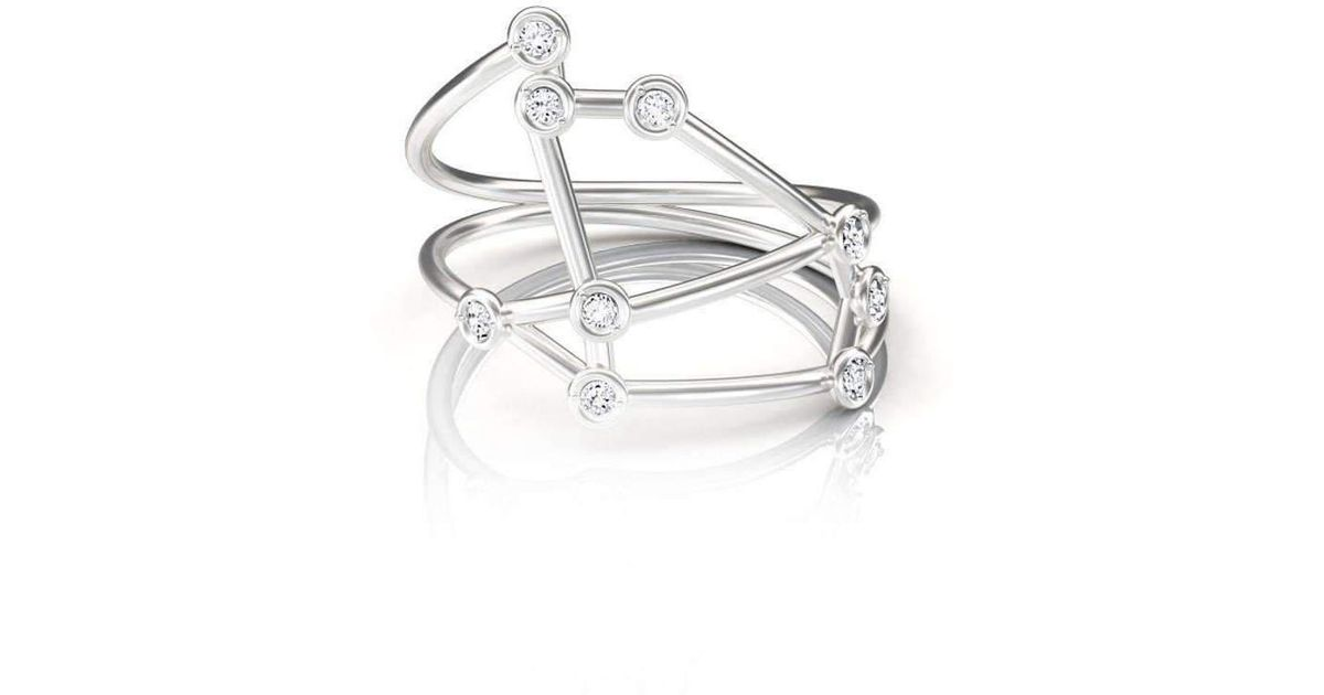 Jessie V E White Gold Virgo Ring LLKAi49It