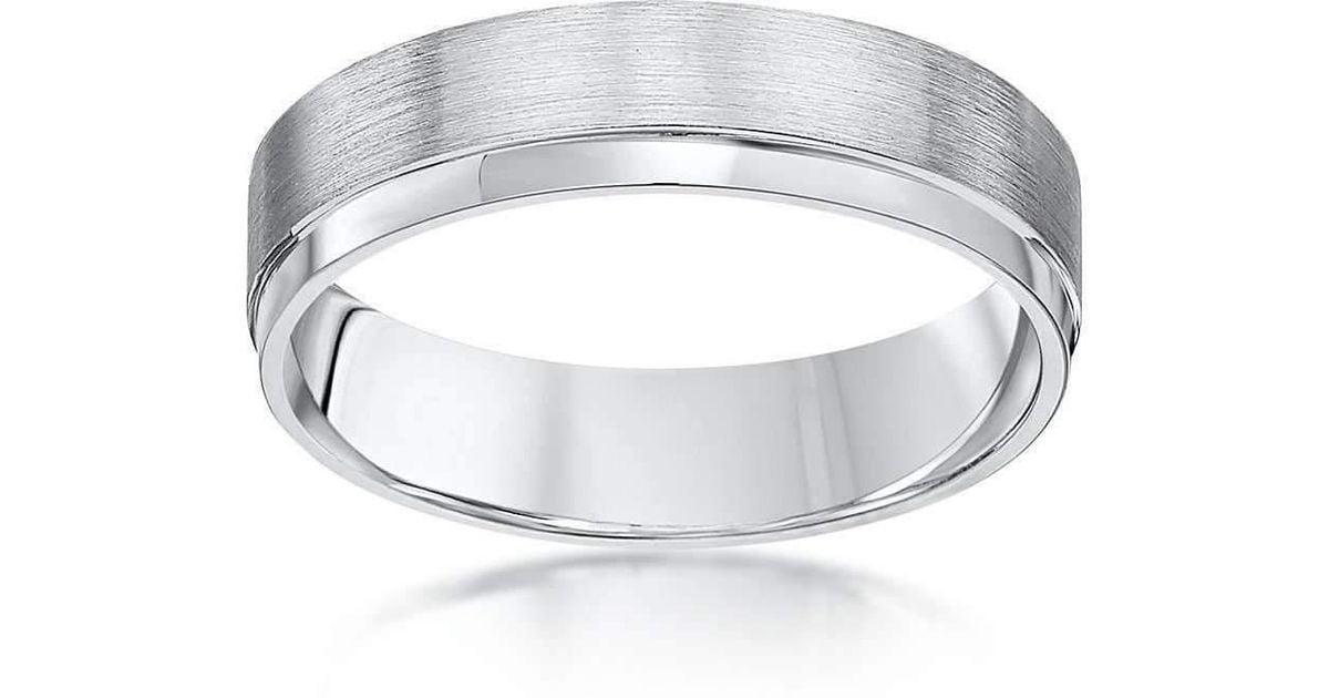 Lyst Star Wedding Rings Palladium Flat Courtshape Matt Polished