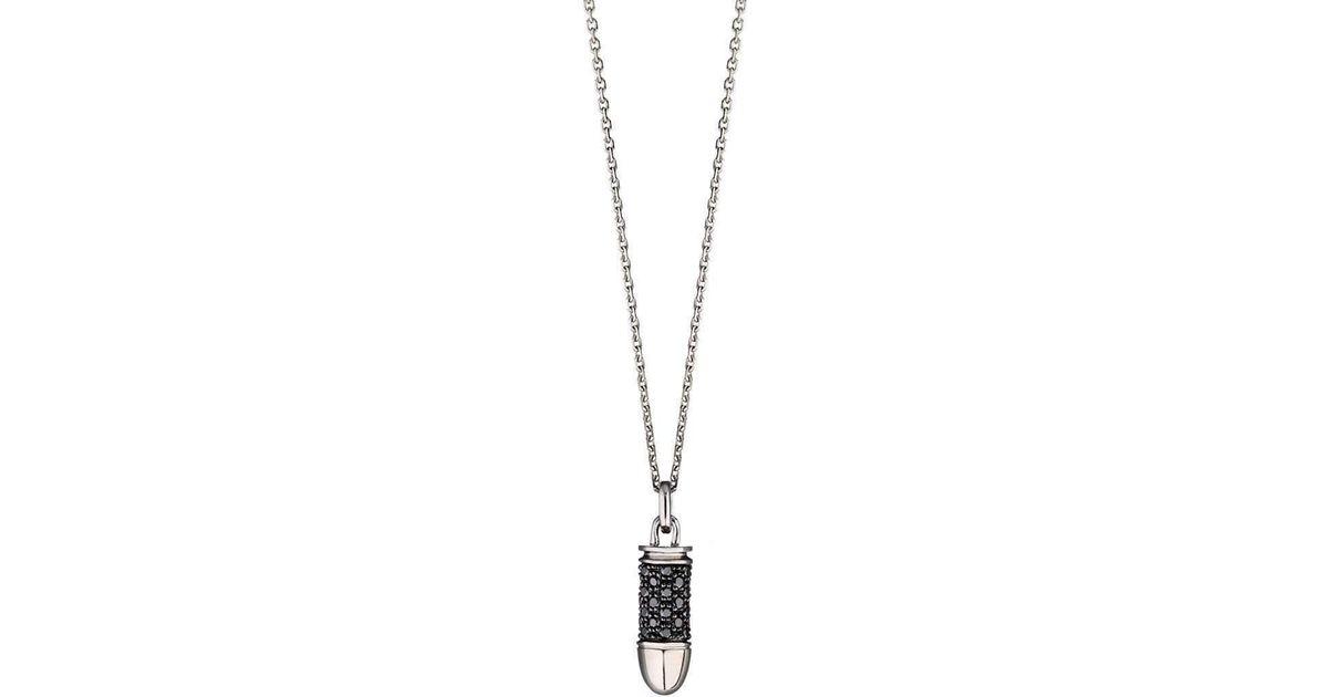 Akillis Bang Bang White Gold Black Diamond Pendant nUe1mhF9e
