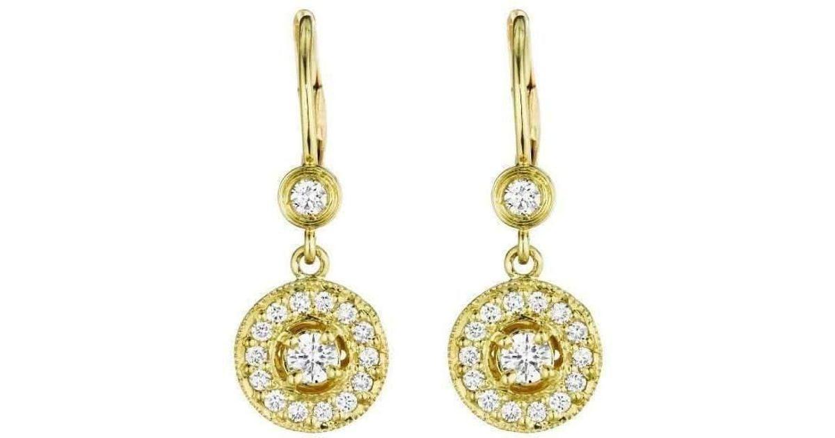 Penny Preville Diamond Pavé Round Gold Bezel Earrings pQk7rk