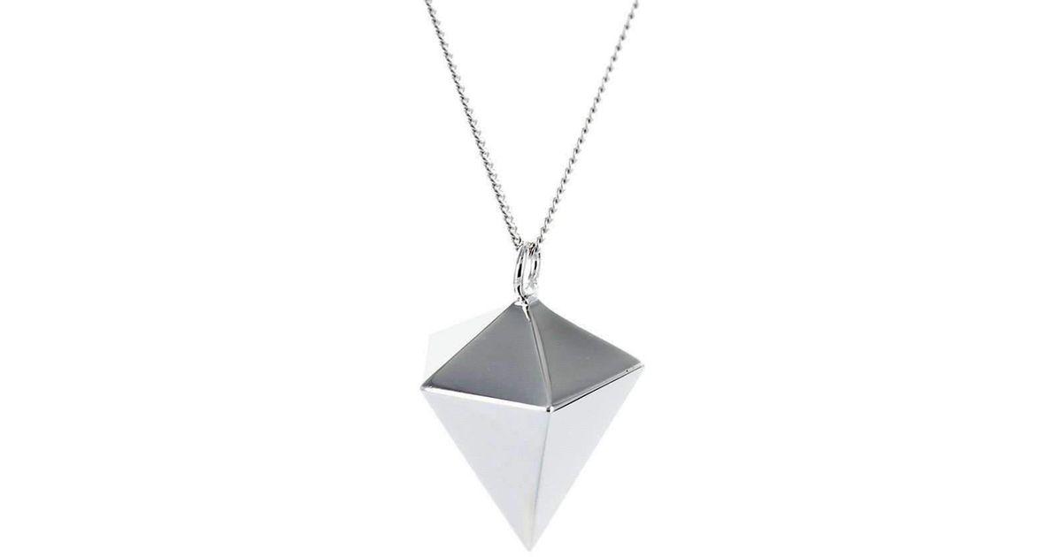Origami Jewellery Sterling Silver Decagem Necklace 59TmL2yO