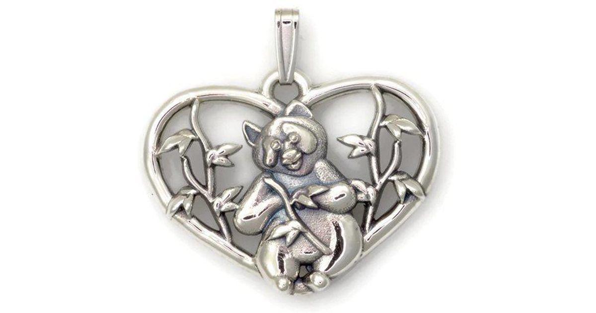 Donna Pizarro Designs Sterling Silver Panda Bear Necklace Q87RzFSn