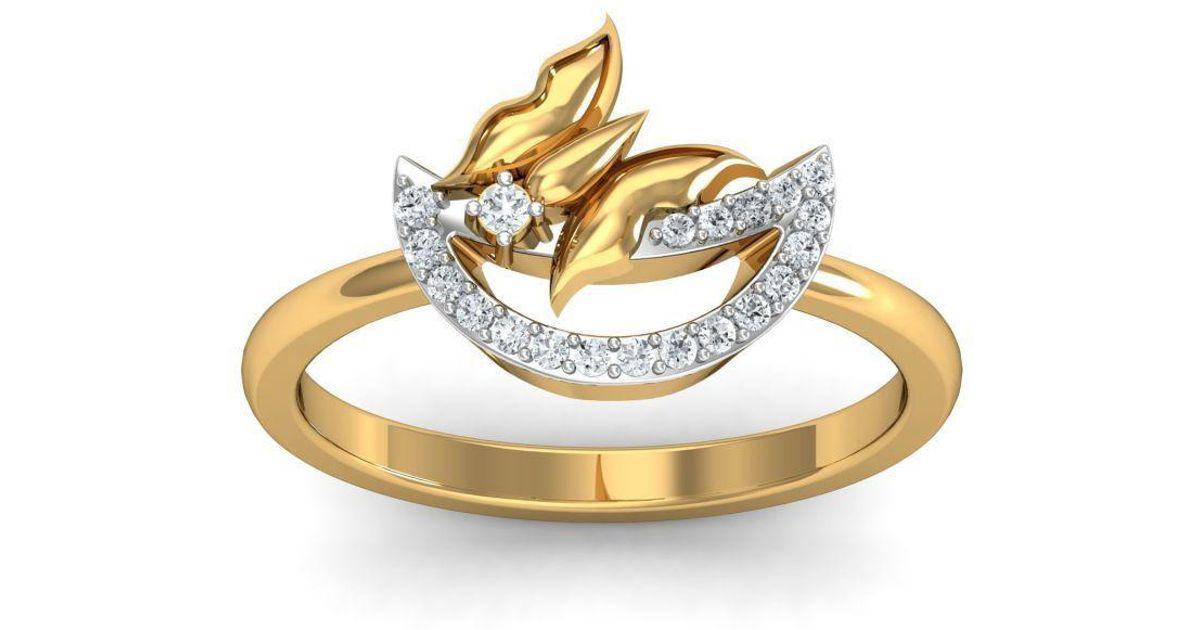 Diamoire Jewels 18kt Yellow Gold Pave 0.14ct Diamond Infinity Ring III - UK G 1/4 - US 3 1/2 - EU 45 3/4 Ov4RDd