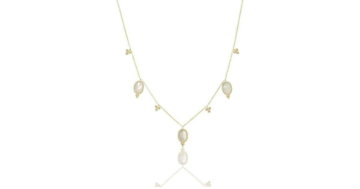 Freida Rothman Mother of Pearl Drops Necklace r4uRyzp7X