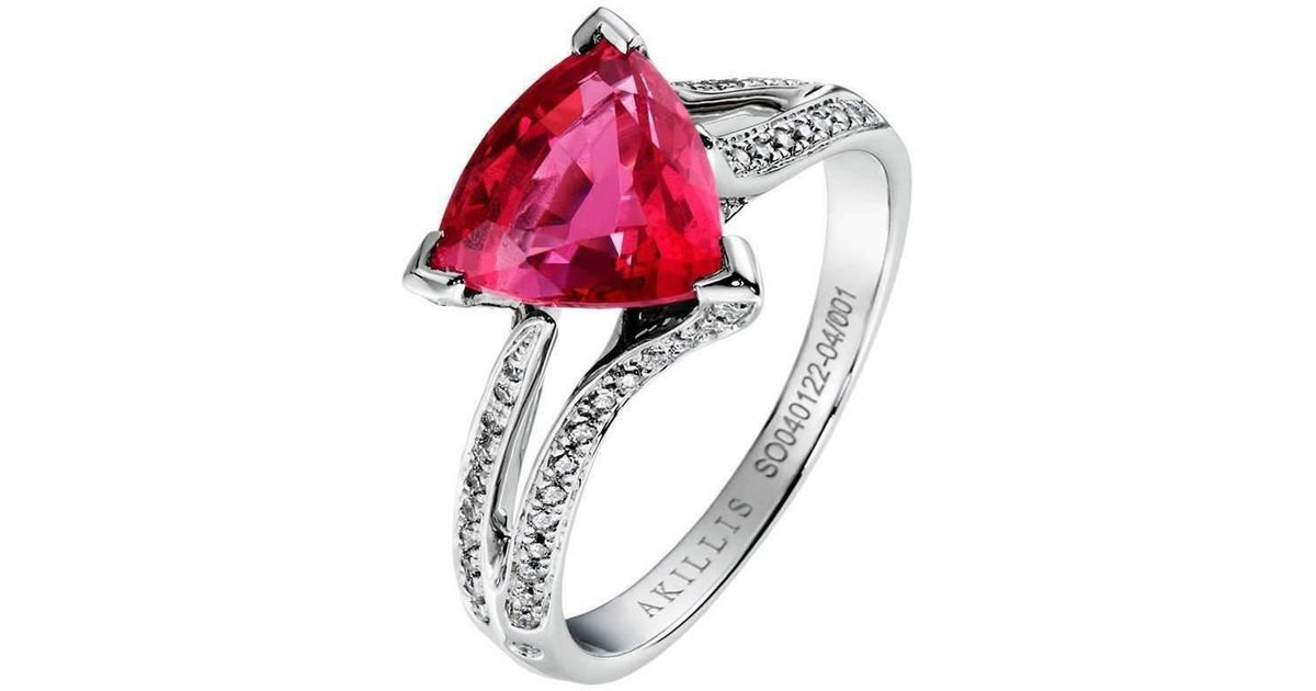 Akillis Wedding Band White Gold and Diamonds for Women - UK K 1/2 - US 5 3/8 - EU 51 NKBkPwe
