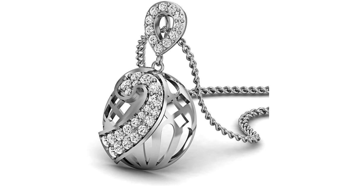 Diamoire Jewels Marvellous Designer Pendant in 18kt White Gold PzScvnVIOt