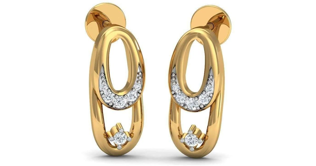 Diamoire Jewels Thrilling 18kt Rose Gold Diamond Studs Rf0YNn7Ht