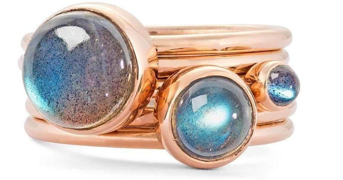 Alison Moore Designs Star And Labradorite Stacking Rings - UK U - US 10 1/4 - EU 62 3/4 B8jUJIq9j