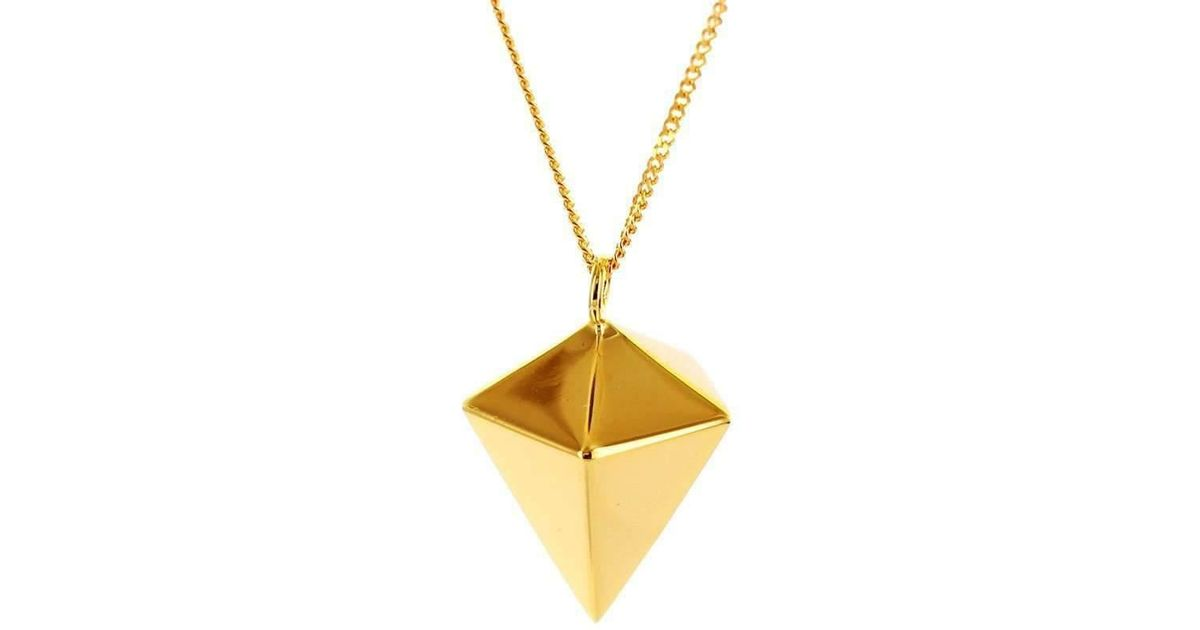 Origami Jewellery Sterling Silver Gold Plated Decagem Necklace 7wHXC9