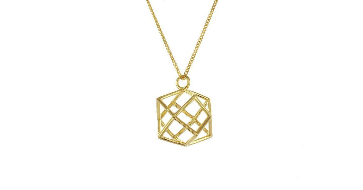 Origami Jewellery Sterling Silver Gold Plated Boat Necklace OrZuc