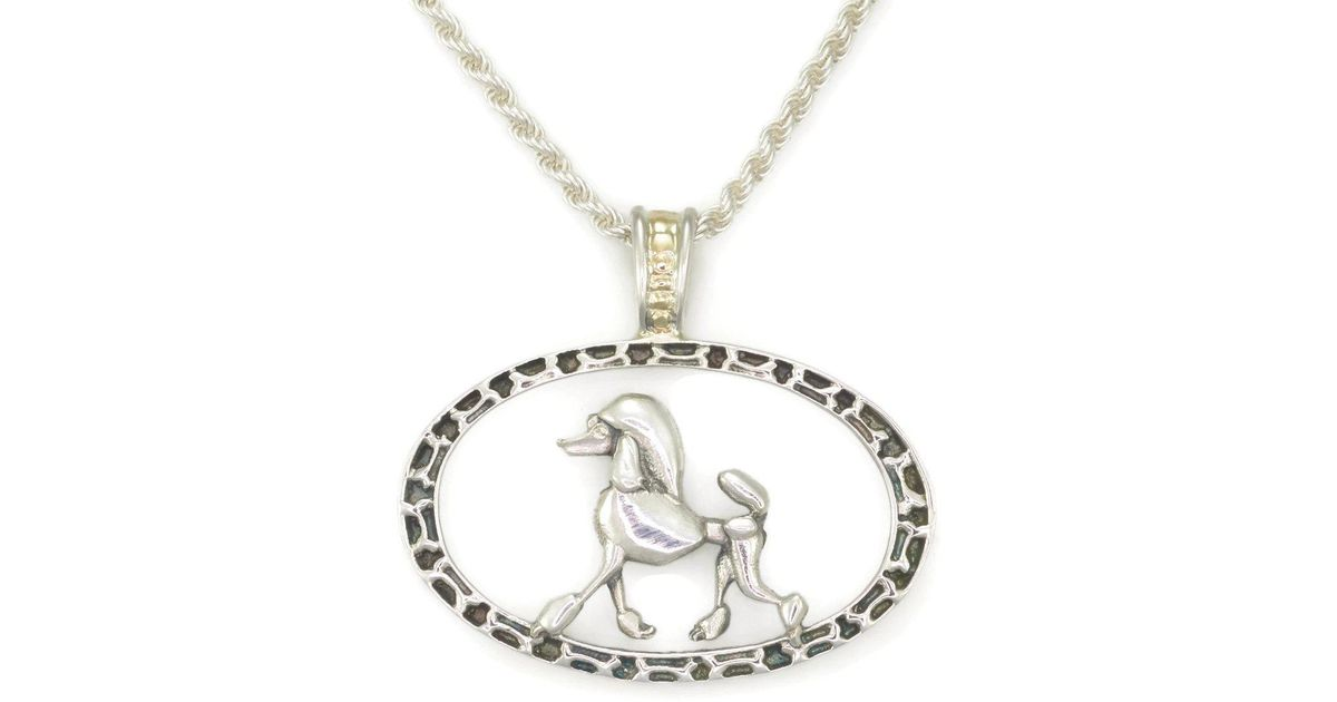 Donna Pizarro Designs Sterling Silver French Bulldog Necklace With 14kt Accent zEuJEJBh