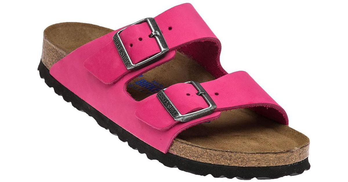 762e613b022255 Lyst - Birkenstock Arizon Leather Sandals in Pink