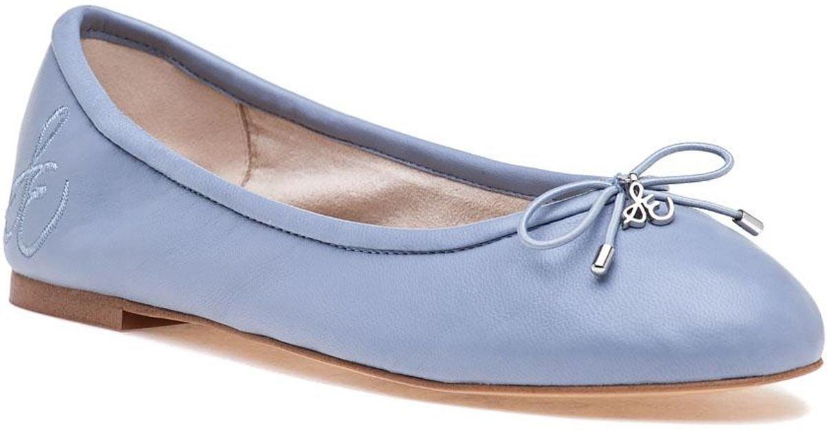 c0892b381 Lyst - Sam Edelman Felicia Ballet Dusty Blue Leather in Blue