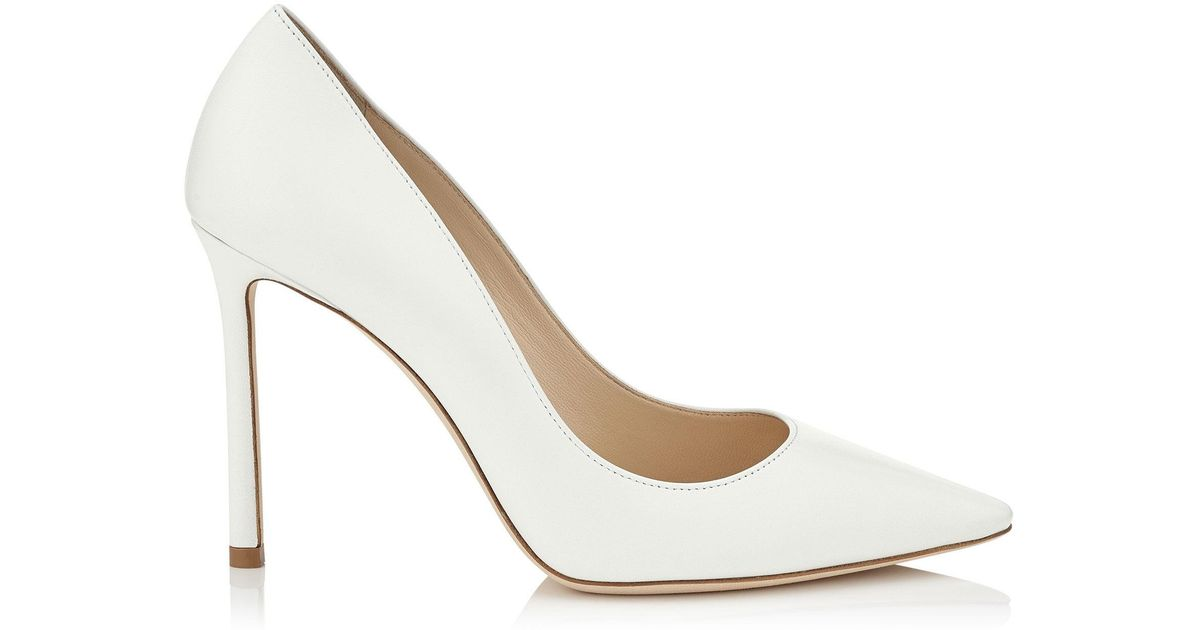 e6ed72073ad Lyst - Jimmy Choo Romy 100 Pumps in White - Save 45%