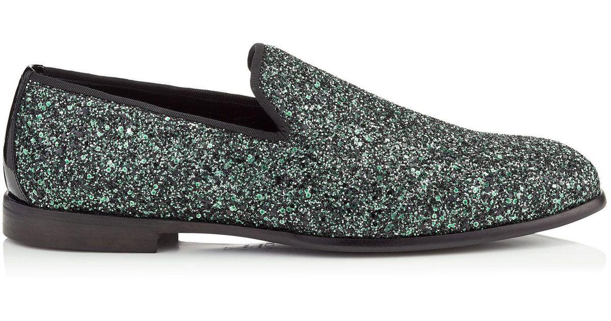 Multicolor Glitter Marlo Loafers Jimmy Choo London MGeeege