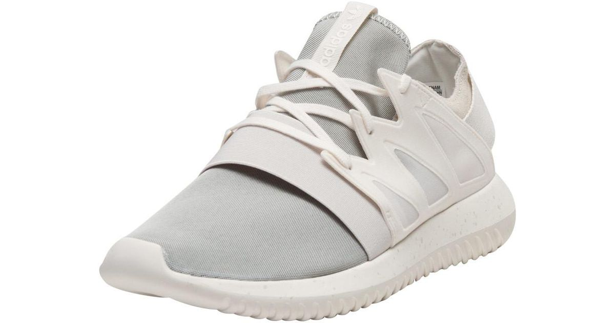 timeless design ec891 e7a41 best price women adidas originals running shoes white tubular viral chalk  e8f45 47111 discount lyst adidas tubular viral in white 154d3 0b877