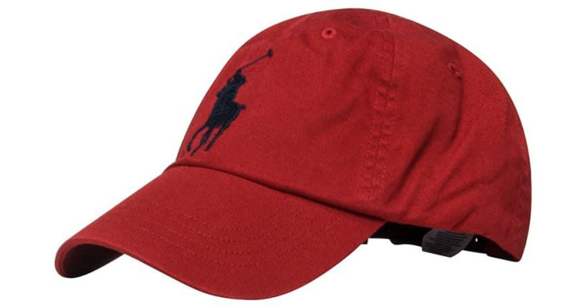 Lyst - Polo Ralph Lauren Classic Cap in Red for Men - Save 37% 5421a92db3fb