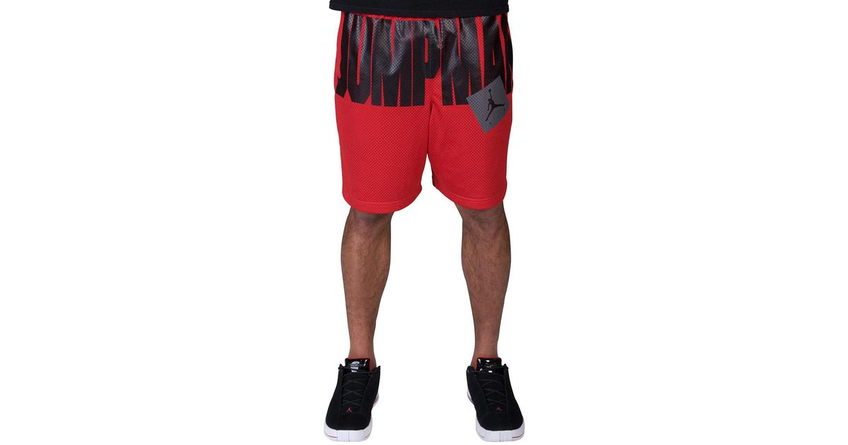4d5ae414a874e9 Nike Jumpman Air Mesh Shorts in Red for Men - Lyst